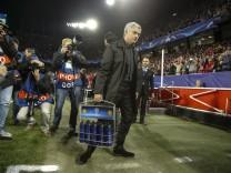 Partido de ida de octavos de la Liga de Campeones entre el Sevilla y el Manchester United ManU en el