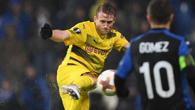 Europa League 2018: Borussia Dortmund holt in der Zwischenrunde gegen Atalanta Bergamo ein 1:1 im Rückspiel.