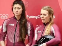 Doping: Bobfahrerin Nadeschda Sergejewna (rechts) wurde bei den Olympischen Spielen in Pyeongchang 2018 positiv auf das Stimulanzium Trimetazidin getestet.