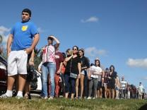 Florida: In Parkland kehren Schüler nach dem Amoklauf mit 17 Toten zurück an die Marjory Stoneman Douglas High School.