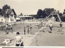 Schwimmbad Freising historisches Bild
