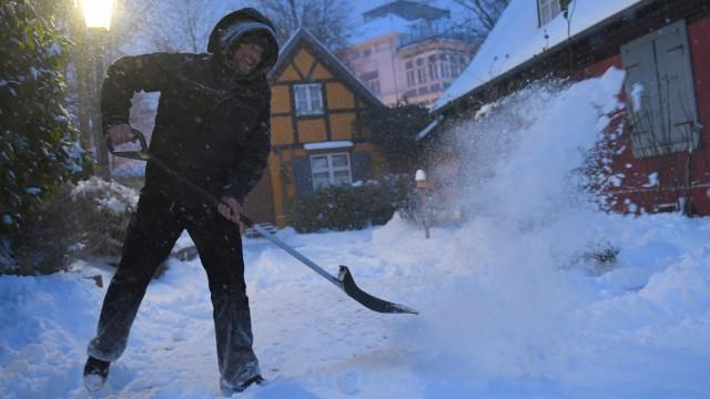 """Wetter: Frost, Kälte und Schnee in Mecklenburg-Vorpommern dank Hoch """"Hartmut"""" im Winter 2018."""