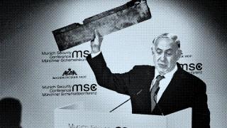 Netanjahu Bauteil Drohne Sicherheitskonferenz München Forum