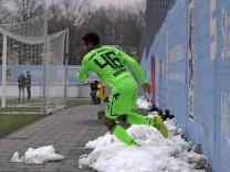 16 02 2018 Fussball Regionalliga Bayern 2017 2018 Testspiel TSV 1860 München Blau Weiss Linz a