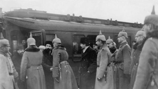 Empfang der russischen Delegation in Brest-Litowsk, 1918