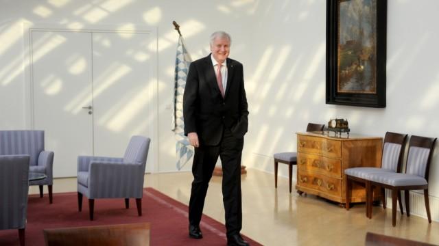 Horst Seehofer in der Staatskanzlei.