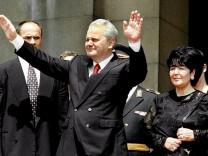 Slobodan Milosevic und seine Frau Marjana Markovic, 1997