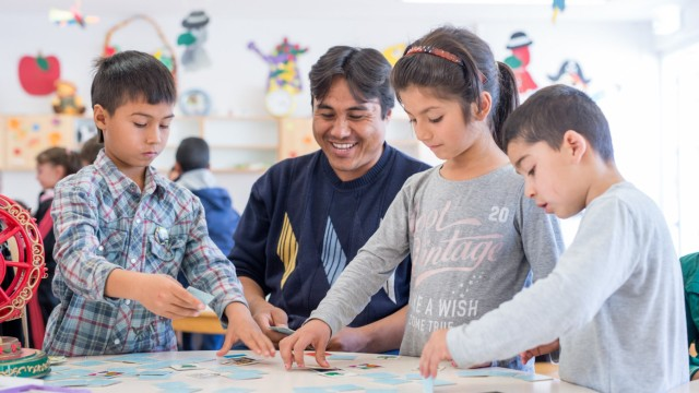 Betreuung von Flüchtlingsfamilien