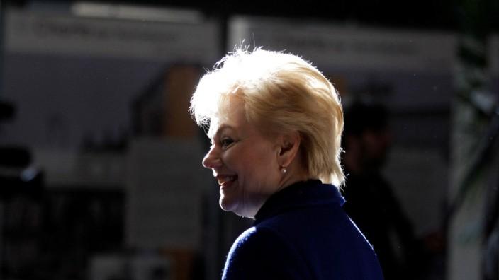 FILE PHOTO - BdV President Steinbach smiles during general meeting in Berlin