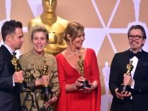 Oscar-Gewinner 2018: Die Schauspieler Sam Rockwell, Frances McDormand, Allison Janney und Gary Oldman.