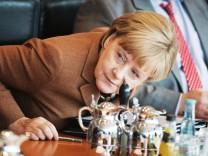 Bundeskanzlerin Angela Merkel (CDU) 2015 in einer Sitzung des Bundeskabinetts im Berliner Bundeskanzleramt.