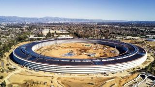 Die neue Apple-Firmenzentrale in Cupertino Kalifornien kurz vor der Eröffnung 2018.