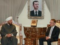 Syrien: Der AfD-Abgeordnete Christian Blex trifft in Damaskus den Großmufti Ahmad Badreddin Hassun.