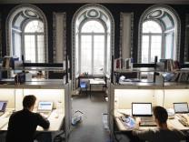 Studenten der Uni Hohenheim beim Lernen.