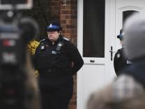 06 03 2018 Salisbury United Kingdom Russian spy Sergei Skripal critically ill Police guard Ser