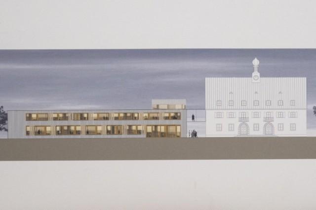 Neubiberg, Haus für Weiterbildung, Eröffnung der Ausstellung der Entwürfe zum Bürgerzentrum; 17 Architektenentwürfe werden gezeigt,