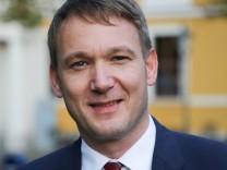 Andre Poggenburg Landesvorsitzender AfD Sachsen Anhalt auf der Wahlkampfveranstaltung am 12 09 2017