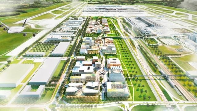 Visualisierung München münchner flughafen will eigenes silicon valley bauen münchen