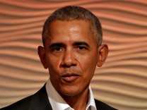 Barack Obama spricht 2017 auf einer Konferenz in Delhi.