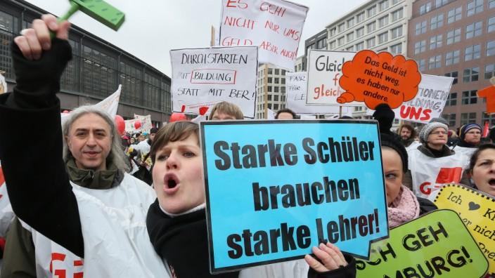 Warnstreik an Berliner Schulen