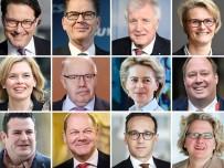 Große Koalition Neun Männer, sechs Frauen, Durchschnittsalter 51