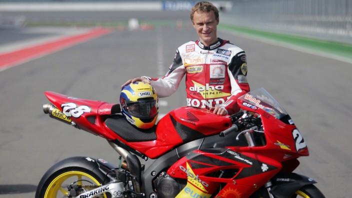 MotoGP-Fahrer Ralf Waldmann 2005 auf dem EuroSpeedway Lausitz. 2018 verstarb der zweimalige Vizeweltmeister überraschend.