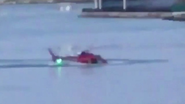 A helicopter crashed in New York City's East River