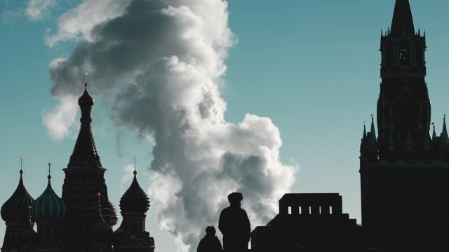 Zentrum der Macht in Russland: der Kreml in Moskau