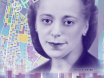 A conceptual image of the front of the new Canadian ten dollar bank note featuring a portrait of Desmond
