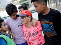 Maria Angelica Ramos, a 92 year-old soccer coach known as 'La Vieja' or 'the Old Lady,' attends a training session with her soccer team at Los Olivos