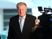 Bavarian Prime Minister Seehofer arrives for a cabinet meeting in Munich