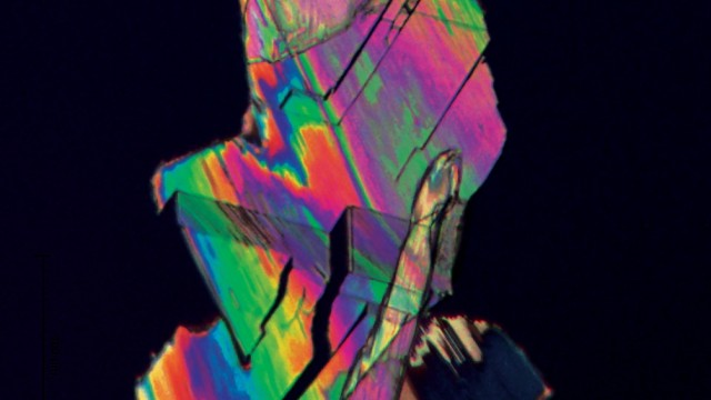 This is a crystal of furandicarboxylic acid, or FDCA, a plastic precursor created with biomass instead of petroleum.