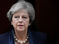 FILE PHOTO: Britain's Prime Minister Theresa May leaves 10 Downing Street in London