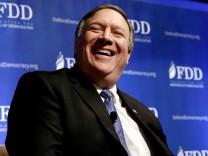 Mike Pompeo im Oktober 2017. Der ehemalige CIA-Chef löst ein Jahr später Rex Tillerson als US-Außenminister ab.