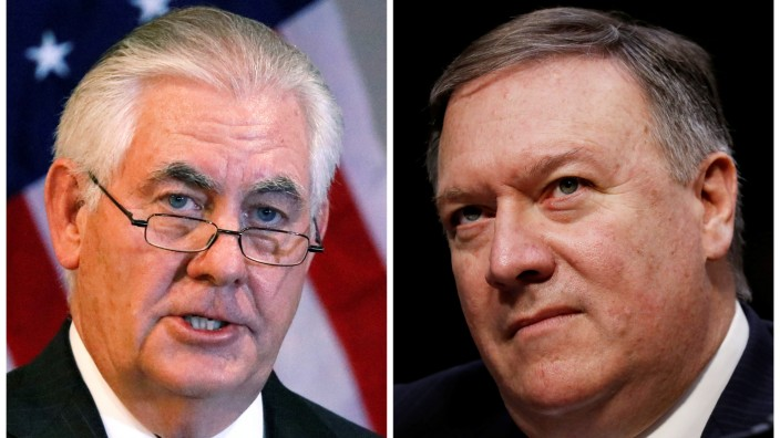 FILE PHOTO: A combination photo of U.S. Secretary of State Rex Tillerson and CIA Director Mike Pompeo
