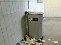 Verdreckter Bahnhof Feldafing