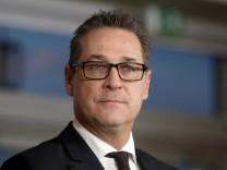 FPÖ-Vizekanzler Heinz-Christian Strache auf einer Konferenz 2017 in Wien.