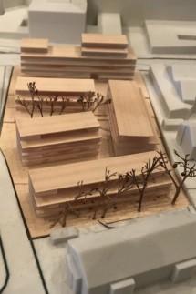 Modell für den Personalwohnbau (Personalwohnungen Wohnungen Wohnbau) an der Kreisklinik (Kreiskrankenhaus) Ebersberg