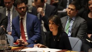 UN-Botschafterin Nikki Haley fordert vor dem UN-Sicherheitsrat im Fall Skripal Maßnahmen gegen Russland.