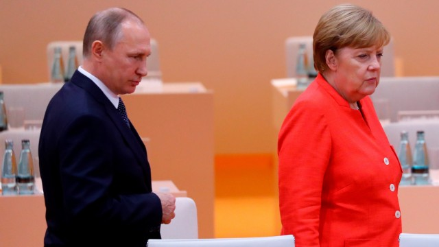Wladimir Putin und Angela Merkel auf dem G20-Gipfel in Hamburg.