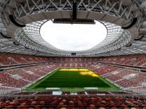 Das WM-Finale der Fußball-Weltmeisterschaft in Russland findet am 15. Juli 2018 im Moskauer Luschniki-Stadion statt.