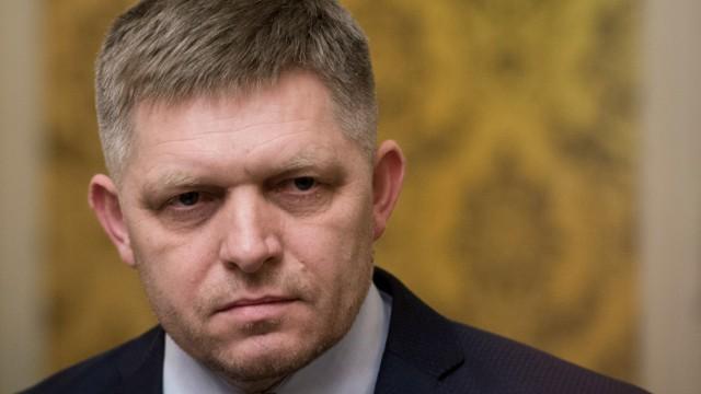 Robert Fico am 14. März 2018 in Bratislava: Der slowakische Ministerpräsident ist nach der Affäre um den Mord an dem Journalisten Ján Kuciak zurückgetreten.