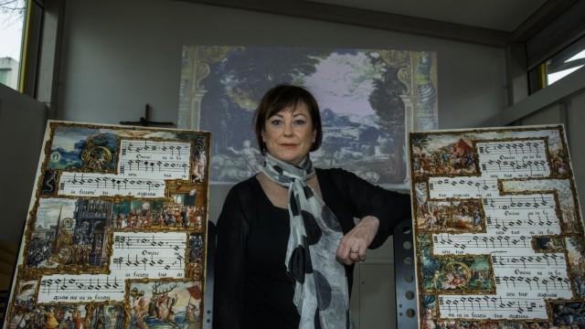 Ottobrunn, St. Magdalena, Treffen mit Chorleiterin Margret Joswig wegen Multimediaprojekt,