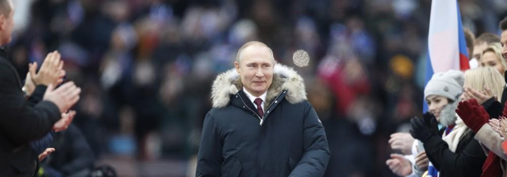 Wahlkampfveranstaltung in Russland