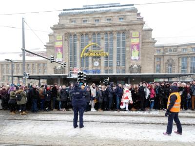 Winterwetter: Bahn stellt Zugverkehr in Leipzig und Halle ein