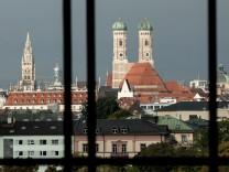 Blick aus dem Maximilianeum auf München, 2017