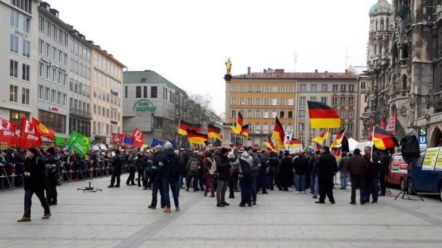 Pegida-Demonstration in München am 17.03.2018