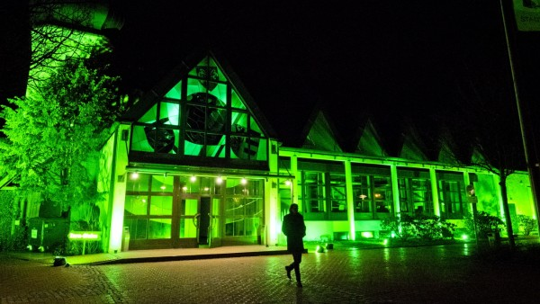 Grüne Stadthalle - St. Patricks-Day
