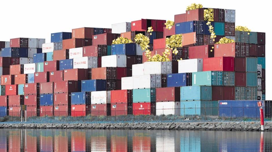 Container - Schiffbruch in Grünwald