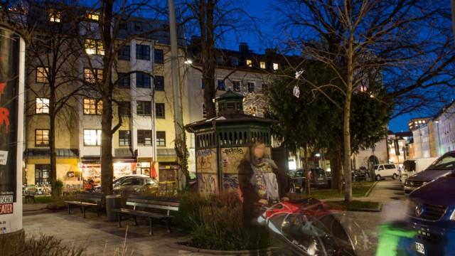 München: Holzplatz im Glockenbachviertel